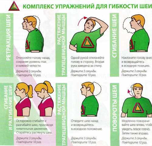 Упражнения при шейном остеохондрозе  в домашних
