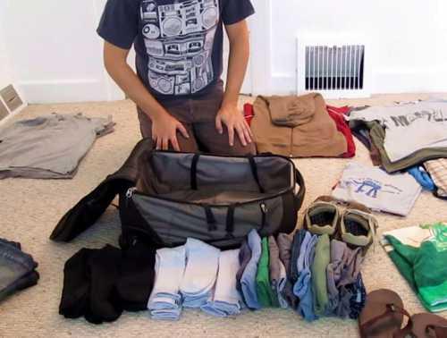 7 способов аккуратно сложить вещи в чемодан