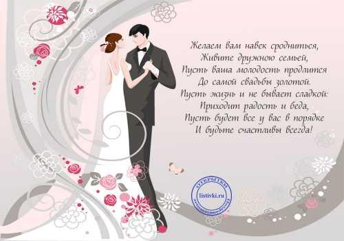 Самые красивые поздравления на свадьбу