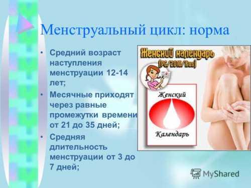Менструационный цикл у девочек