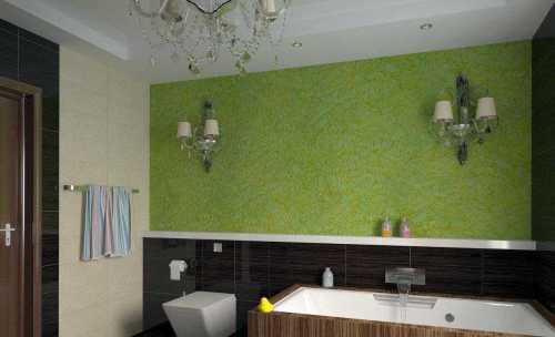 Декоративная штукатурка в ванной комнаты