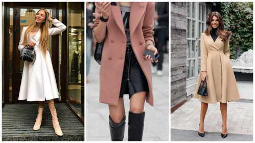 Модное женское приталенное пальто
