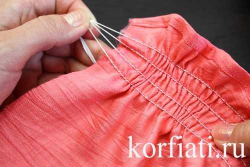 Как вшить нитку-резинку