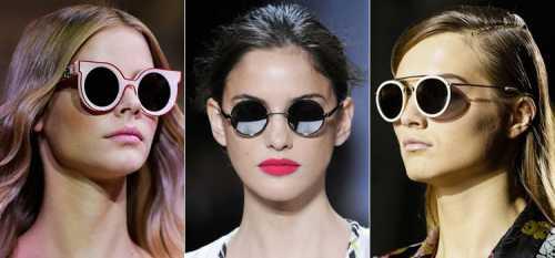 Модные круглые очки тишейды