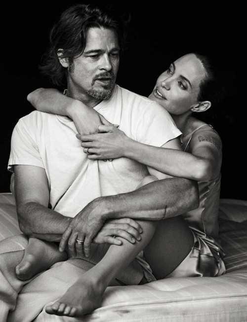 Домашний архив: лучшие фотосессии пары Джоли