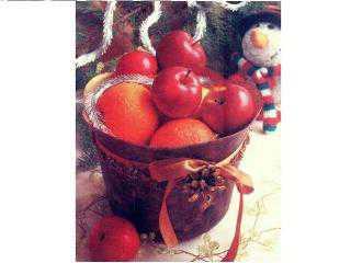 Новогоднее ведерко для фруктов